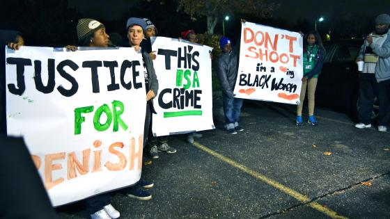a Detroit protest for Renisha McBride via thegrio.com